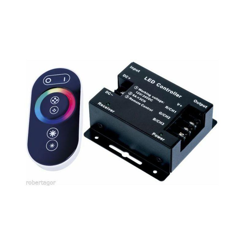 Controller led rgb con telecomando touch centralina strip striscia led 12v