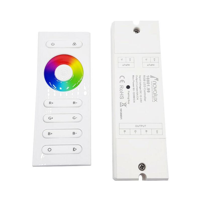 Controller RGB per LED con telecomando 12/24VDC 16901.99 - Novalux