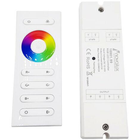 Controller RGB per LED Novalux con telecomando 12/24VDC 16901.99