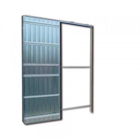 Controtelaio per porte scorrevoli anta unica spessore muro 125mm Doortech  by Scrigno - Misura: 120X210 cm