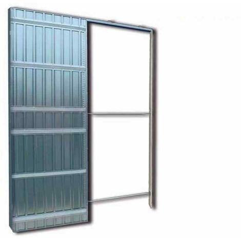 Controtelaio per porte scorrevoli anta unica per cartongesso Doortech by  Scrigno - Misura: 60x210 cm