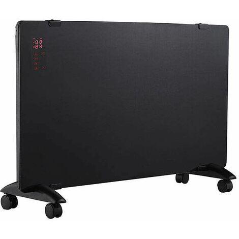 Convecteur mobile GP100, vitré noir, affichage à LED, 1500W