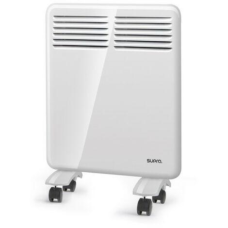 Convecteur mobile ou fixe - 500 W - Programmateur hebdo - Thermostat - SDB - Blanc