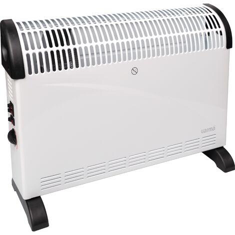 Convecteur mobile Søtra T turbo ventilation Varma - 2000 W - Blanc - Blanc et noir