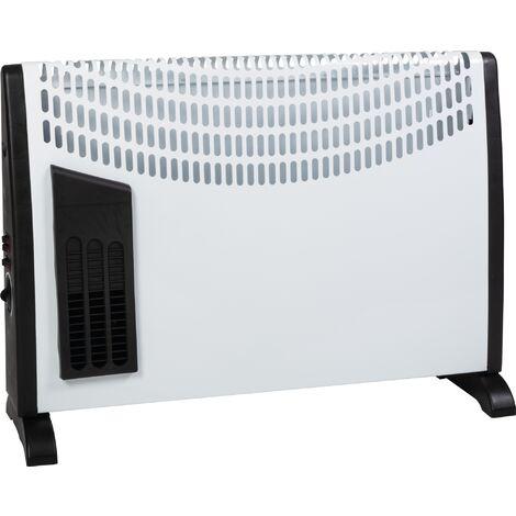 Convecteur mobile Tøsra T turbo ventilation en façade Varma - 2000 W - Blanc - Blanc et noir