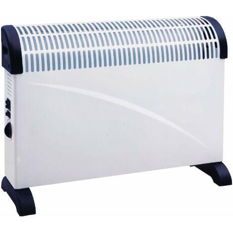 Convector de color blanco montaje a suelo 3 potencias 750 / 1250 / 2000W