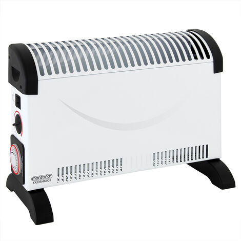 monzana Electric Convector Heater Portable with Timer 2KW for Home Convection Heaters Low Energy Radiator 2000W Thermostat