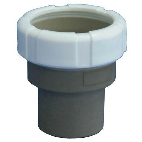 CONVERSOR INTERIOR TUBO PVC A LISOS Ø40