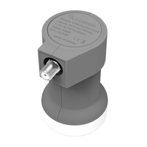 Conversor LNB Illusion Single Ultra 5 - 0.3DB Gris