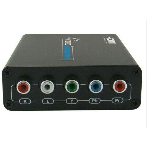 Convertidor de HDMI a Componentes YPbPr + audio stereo (RCA 5) Yatek YK-204