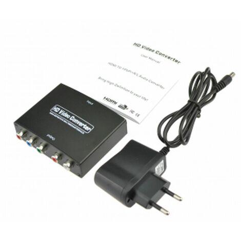 Convertidor señal Video HDMI a Vídeo Componente (YPbPr) + señal audio estereo