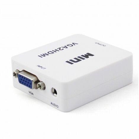 Convertidor VGA2HDMI convierte Video VGA+Audio a salida video HDMI