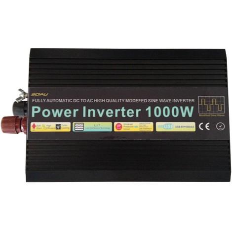Convertisseur 1000W-12V quasi sinus tension vers 220V