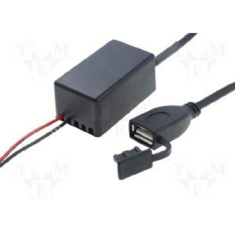 Convertisseur 12V vers USB Femelle 5V 2-1A avec cable ADNAuto