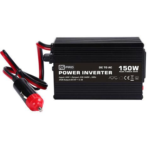 Convertisseur CC-CA pour véhicule, RS PRO, 24V cc / 230V ac, 150W