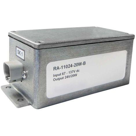 Convertisseur CC-CC isolé, Entrée 24 V c.c., Sortie 12V cc, 1.67A