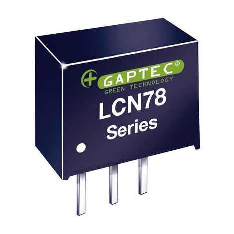 Convertisseur CC/CC pour circuits imprimés Gaptec LCN78_12-0.5 10070191 24 V/DC 12 V/DC 500 mA 6 W Nbr. de sorties: 1 x 1 pc(s)