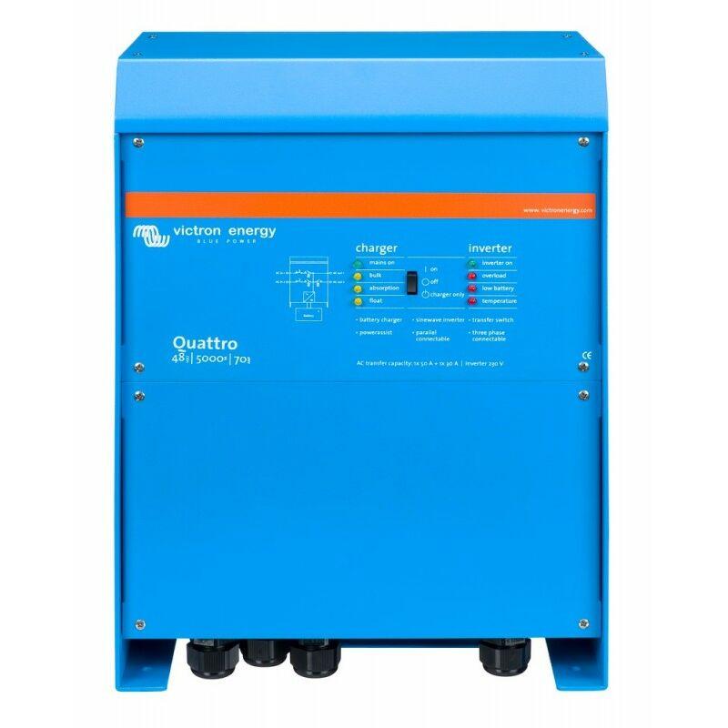 Convertisseur-chargeur 5000VA 48V 70-100/100 Quattro - Victron Energy