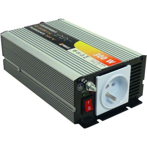 CONVERTISSEUR COURANT TENSION 300 W 12 volts continu en 220 v alternatif SODELEC- S05106