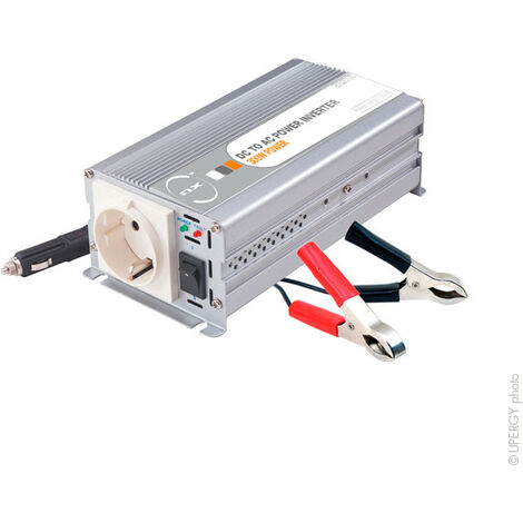 Convertisseur DC/AC 12/230V 300W quasi-sinusoïdal - Sortie pinces crocodiles et allume-cigare