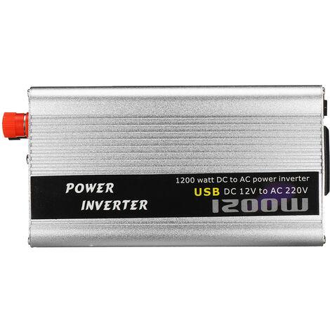 Convertisseur de puissance 1200W 12V au chargeur USB de convertisseur d'onde sinusoïdale modifié AC220V