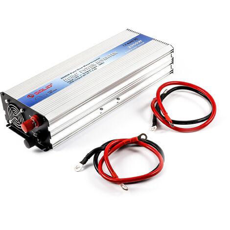 Convertisseur de tension onduleur sinusoïdal pur 12V 2000W Camping Solar KFZ 140054
