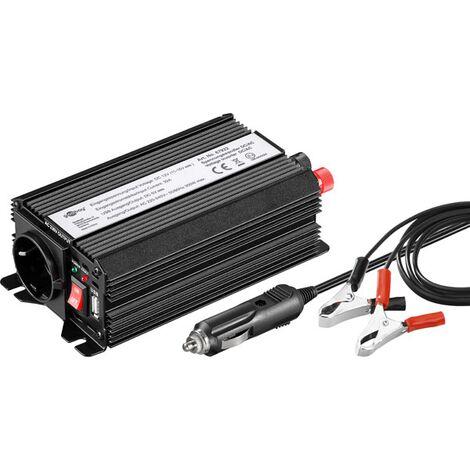 Convertisseur Goobay SPW 300 USB 300 W 12 V/DC 230 V/AC, 5 V/DC onde sinusoïdale modifiée