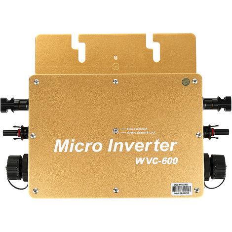 Convertisseur Pur Sinus 600W Convertisseur de tension quasi sinus Onduleur solaire à onde sinusoïdale pure d'inverseur solaire de lien de grille de 600W-dore