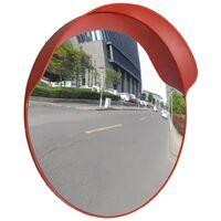 Convex Traffic Mirror PC Plastic Orange 60 cm Outdoor
