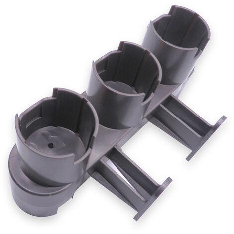 Convient pour le support de rangement mural acinq trous pour aspirateur Dyson V7 / V8 / V10 gris