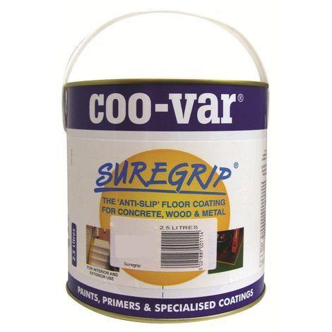 Coo-Var Suregrip Anti-Slip Floor Paint 2.5 Litre (choose colour)