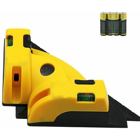 COOFIX mètre de ligne d'angle laser à 90 degrés, mètre de ligne de sol à angle droit, mètre de niveau laser infrarouge