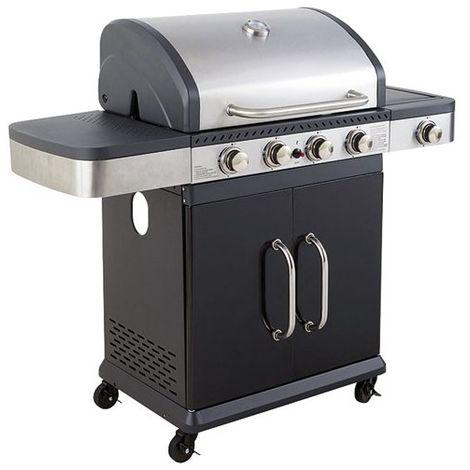COOK'IN GARDEN - Barbecue à gaz américain Fidgi - 4 brûleurs