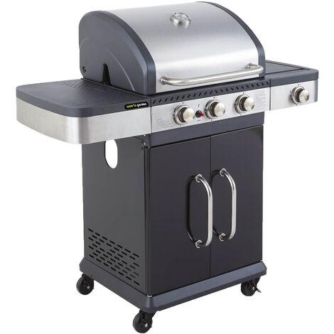 Cook'in Garden - Barbecue au gaz FIDGI 4 avec thermom�tre - 4 br�leurs + r�chaud 14,5kW