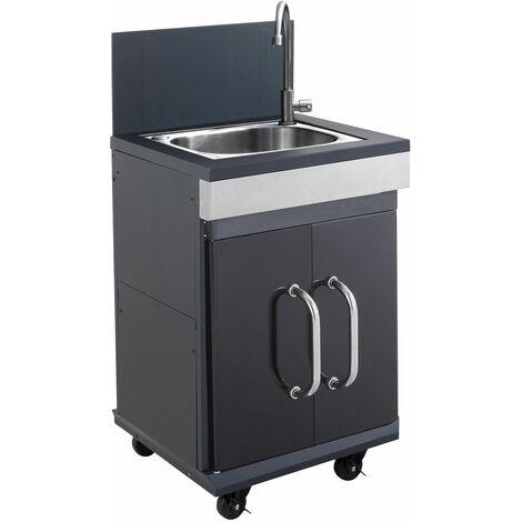 Cook'in Garden - Meuble d'appoint EVIER FIDGI - Noir