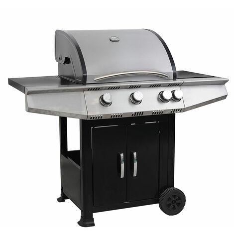 COOKING BOX - Barbecue Tarnos à gaz - 4 feux - 16,4 KW