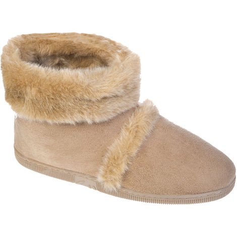 Coolers Mens Microsuede Outdoor Sole Boot Slipper