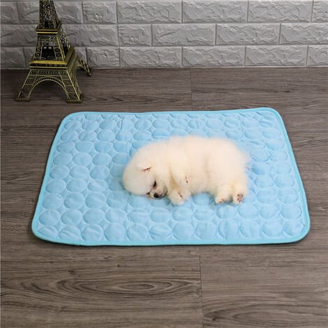 """main image of """"Cooling Mat for Dogs, Cold Mat Dog Mat, Cooling Mat for Dogs and Cats, for Dogs and Cats , Coffee , M-62 * 50cm (Recommended for up to 12 pounds)"""""""