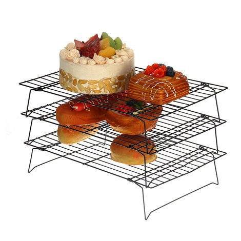 Cooling Rack Non-stick Grill Baking Tools Kitchen Oven 340x240x200mm