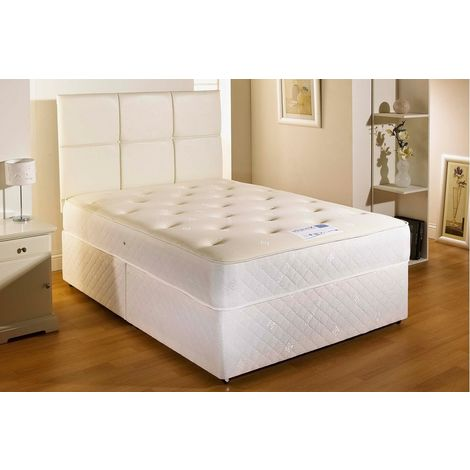Cooltouch Sprung Memory Foam Divan bed With 2 Drawer One On Either Side Of Bottom Base And Headboard