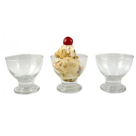 Copa de helado elegante de cristal Set de 3