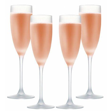 Copa de Vino Rosado 16Cl, Cristal Opaco, Mate, 4 Uds. Vajilla Elegante y Moderna, Set de 4.