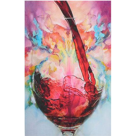 Copa de vino tinto Pintura al óleo sobre lienzo de pared Fotos impresas Decoración Copa de vino (enmarcada)