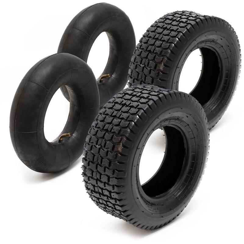Wiltec Camera d/´Aria per pneum per trattorini 15x6.00-6 con valvola ad Angolo Copertone Trattore