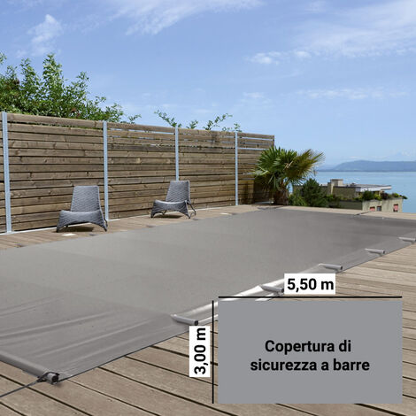 Copertura di Sicurezza a barre Polartex® SAFETY EVOLUTION 5,50 x 3,00 m per piscina 4 stagioni