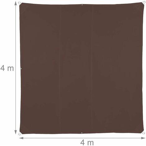 Copie de Copie de Voile d'ombrage carré 4 x 4 m brun