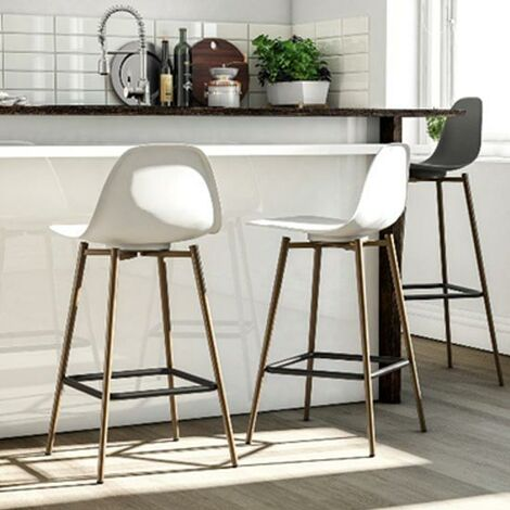 """main image of """"Copley Plastic Kitchen Dining Room Barstool White"""""""