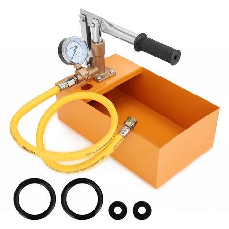 """Copper 2.5MPa 0-40KG Water Pressure Tester Manual Hydraulic Test Pump Machine with G1/2"""" Hose"""