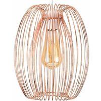 Copper Cage Ceiling Pendant Light Shade + 4w LED Filament Bulb - 2700K Warm White