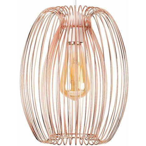 Copper Ceiling Pendant Light Shade - No Bulb